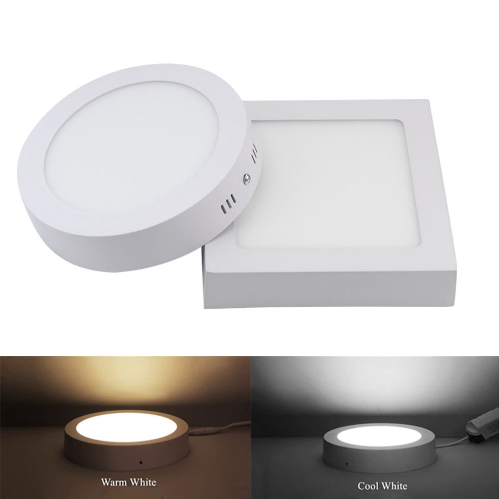 Led Ceiling Lights For Bathroom : W no cut round square led surface mounted