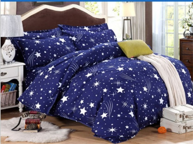bedclothes quilt+ Sheet + pillow cover meteor shower King Size ...