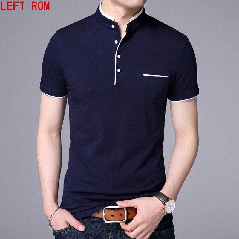 Camisa Dos Homens do Polo Dos Homens de alta Qualidade Polo de Manga curta  Sólida camisas e95c36e754605