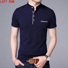 7955c501438cc Camisa Dos Homens do Polo Dos Homens de alta Qualidade Polo de Manga curta  Sólida camisas