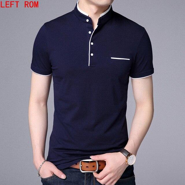 273d2df306 Camisa Dos Homens do Polo de alta Qualidade Manga curta Sólida camisas  Masculina 2018 algodão Ocasional Plus Size S 3XL topos