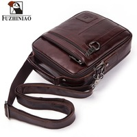 FUZHINIAO Genuine Leather Men Bag Men's Messenger Shoulder Bags High Quality Handbag Male Business Briefcase For Travel Bags