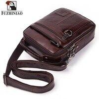 FUZHINIAO Genuine Leather Men Bag Men's Messenger Shoulder Bags High Quality Handbag Male Business Briefcase For Travel Bags