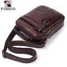 FUZHINIAO ของแท้กระเป๋าหนังผู้ชายกระเป๋า Messenger กระเป๋าสะพายคุณภาพสูงกระเป๋าถือชายกระเป๋าเอกสารสำหรับเดินทางกระเป๋า