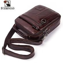 FUZHINIAO bolso de cuero genuino para hombres, bolsos de hombro para hombres, bolso de alta calidad, Maletín de negocios para hombres, para bolsas de viaje