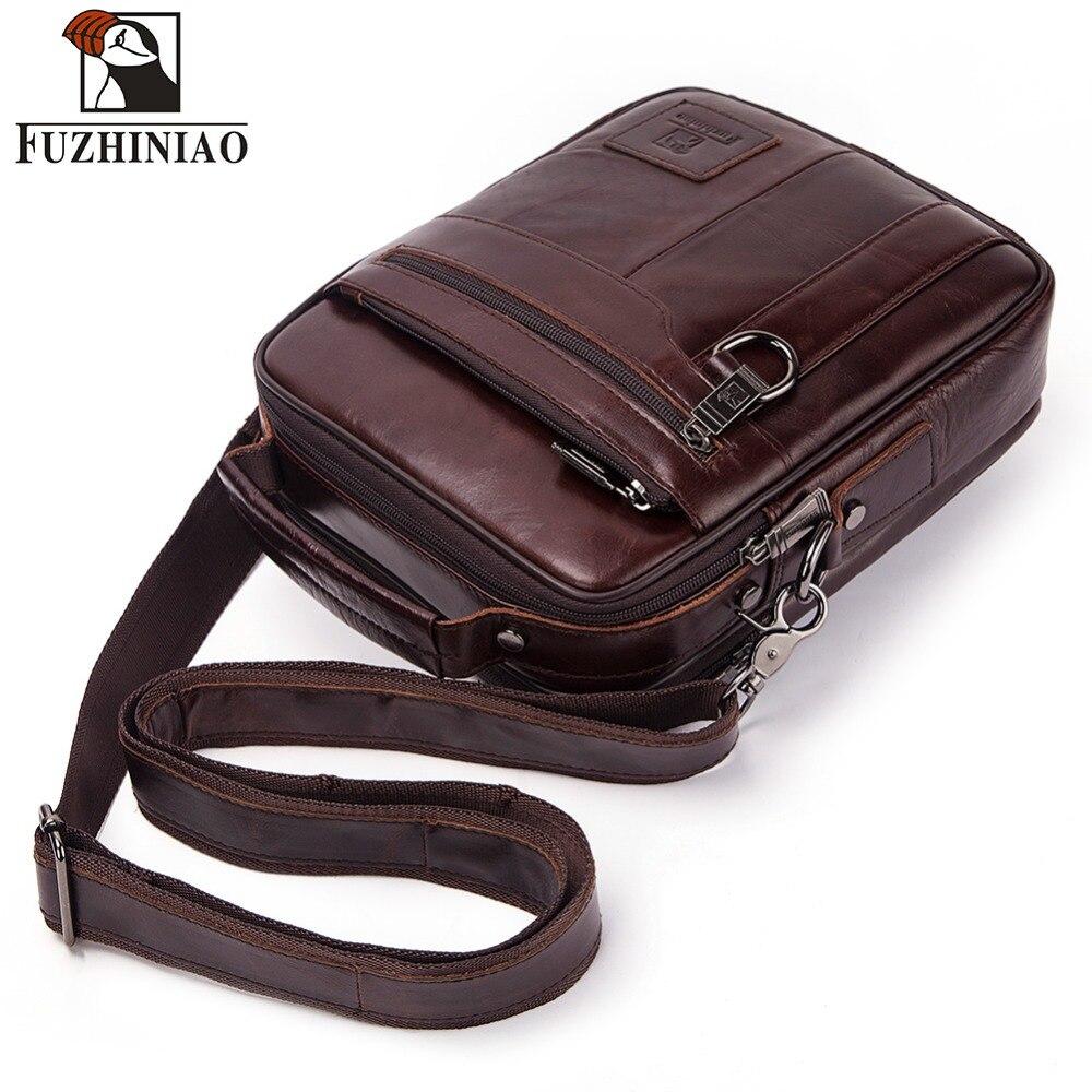 62552722d5d5d FUZHINIAO nuevos hombres de cuero genuino bolso de los hombres de hombro  bolsos bandolera bolso de alta calidad bolsa de mensajero