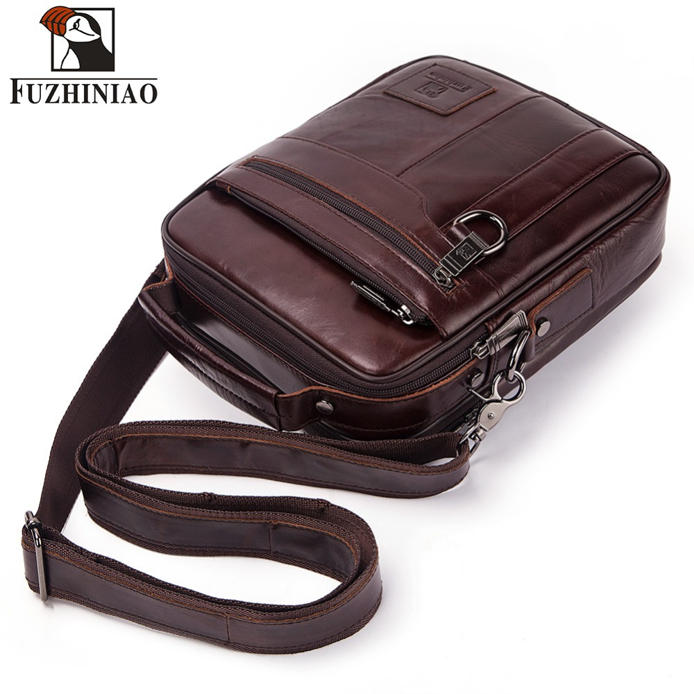 FUZHINIAO sac en cuir véritable pour hommes sacs à bandoulière Messenger de haute qualité sac à main homme mallette d'affaires pour sacs de voyage