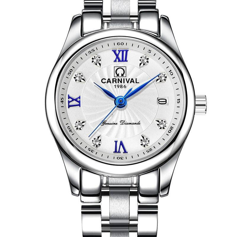 d66e0069 Карнавал Элитный бренд часы Для женщин Япония кварцевые часы Швейцария Для  женщин часы мужской Водонепроницаемый Военная reloj hombre C8827L-1