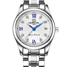 Carnival Luxury Brand Watch Women Japan Quartz clock Switzerland Women Watches Male Waterproof Military reloj hombre C8827L-1