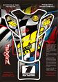 3D Motorcycle Espina de Pescado Tanque de Gas Pad Sticker Decal Valentino etiqueta engomada 46 vr46 rossi el doctor tank protector para honda yamaha