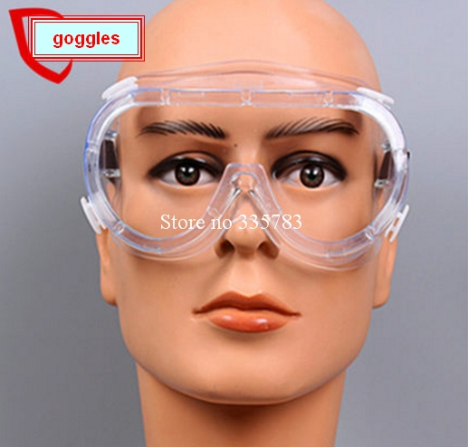2PCS High quality Safety Glasses Transparent Protective Goggles Work Labour Eyewear Wind And Dust Resistant medical