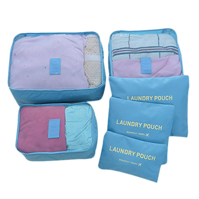 New Qualified Creative Travel Storage Bag Waterproof Clothes Underwear 6 Piece A Set Flat Type Bags Dec18 In From Home