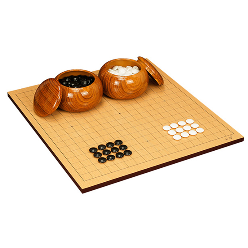 BSTFAMLY Melamine Go Chess 19 Road 361 Pcs/Set Chinese Old Game of Go Weiqi International Checkers Folding Table Toy Gifts LB09 keller charles melamine appetizer plates box of 6