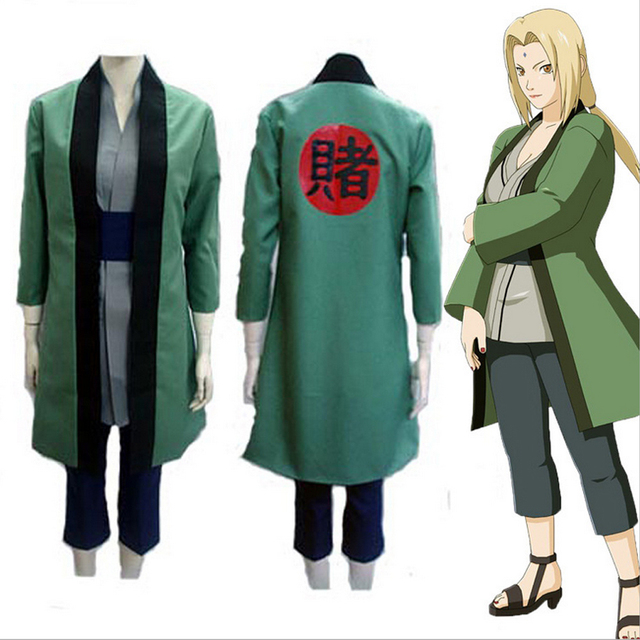 HOT Anime NARUTO Tsunade Women Cosplay Costumes Whole Set Party Halloween Prop Toy Gift