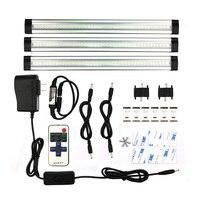 3pcs/set SMD3528 LED Under Cabinet Light Kit with Remote Control LED Hard Rigid Bar DC12V Output Led tube Cupboard Kitchen Light