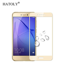 2PCS Screen Protector Huawei P8 Lite 2017 Glass Tempered For Honor 8 Full HATOLY