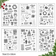 Christmas Snowman/Santa Claus Transparent Clear Stamp for DIY Scrapbooking/photo Album Decorative Sheets 11*16cm