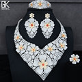 GODKI BIG Luxury 4PCS African Jewelry Sets For Women Wedding AAA Cubic Zirconia Crystal CZ Engagement DUBAI Bridal Jewelry Sets