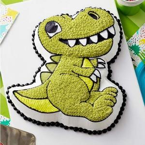 Image 2 - 3D 恐竜シェイプケーキクッキー金型フォンダンケーキデコレーションツールゼリー金型キッチン菓子ベーキングツール
