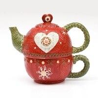 Ceramic Cup Pot Set Hand Painted European Teapot Cup And Pot Coffee Cup Mother Pot Set