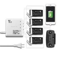 6 em 1 Zangão controle remoto Bateria carregador Inteligente De Carregamento com Porta USB Para DJI Mavic Acessórios de ar