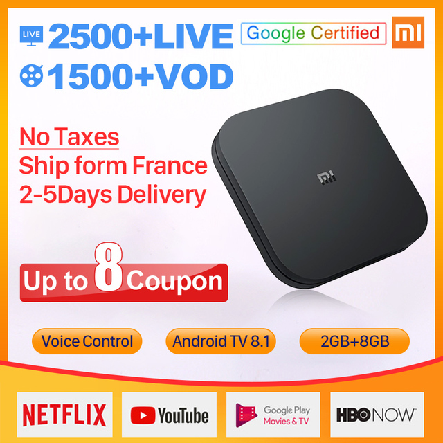 IPTV Sweden Spain Italy IP TV 1 Year Xiaomi MI Box S Android 8.1 2G+8G BT Dual-Band WIFI IPTV Germany UK Sweden Spain IPTV Box