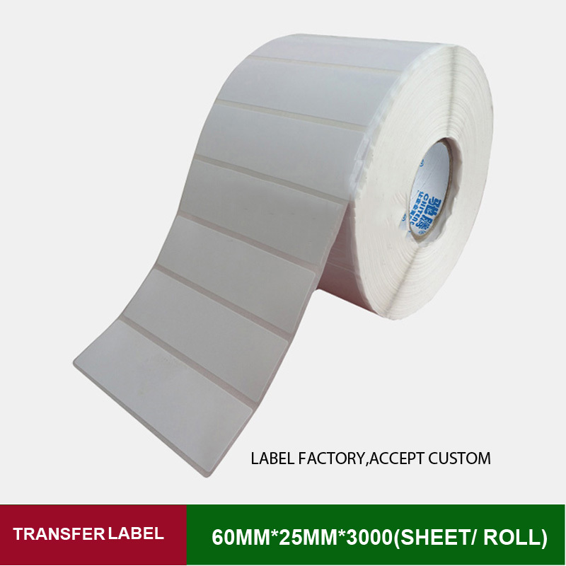 60*25mm 3000 sheets thermal transfer labels with high quality and provide custom printing logo for business barcode mark high quality silk 35mm 200m blank washing mark high end laundering tags for garment provide custom order