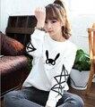 Harajuku стиль kpop bap b. a. p кролик имя члена печати о шеи футболка для женщин звезды печать рукав толстовки плюс размер