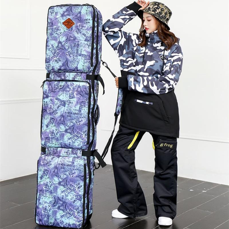 Sac de Ski unisexe Double planche Snowboard sac de Ski 152 CM 165 CM grande capacité imperméable portable sacs de Ski équipement de Ski 2018