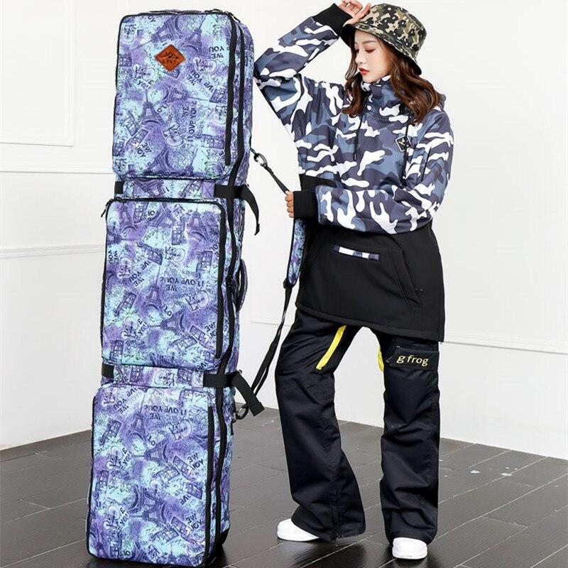Unisexe Sac Double-conseil de Ski Snowboard Ski sac 152 cm 165 cm Grande Capacité Imperméable À L'eau Portable Sacs De Ski Ski équipement 2018