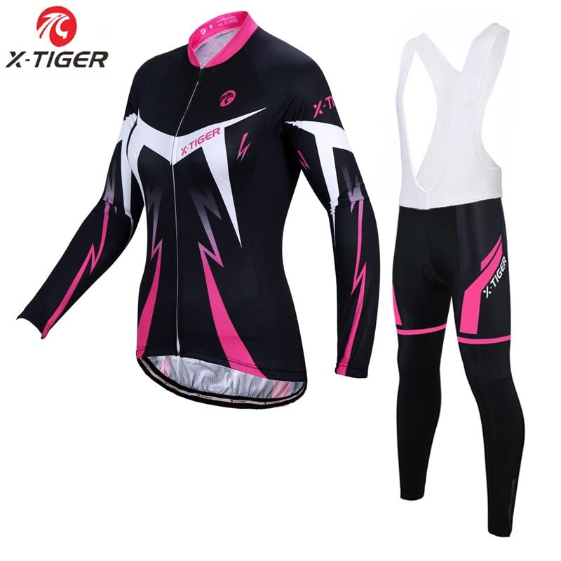 Charitable X-tiger Women Winter Thermal Fleece Cycling Jersey Set Super Warm Mountain Bicycle Cycling Sportswear Bike Cycling Clothing