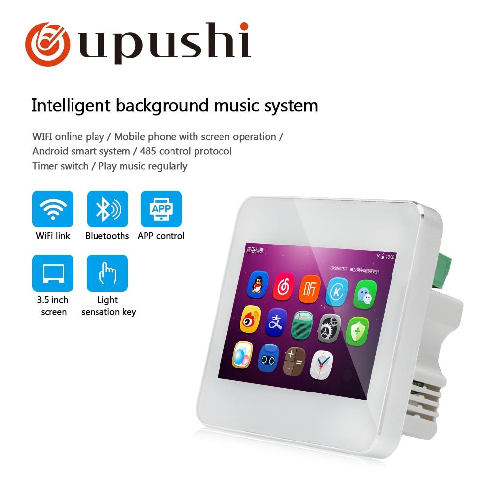 Tragbares Audio & Video WunderschöNen Oupushi A5 Mini In Wand Verstärker Wifi Touch Sreen Smart Home Hintergrund Musik System Professionelle Audiogeräte