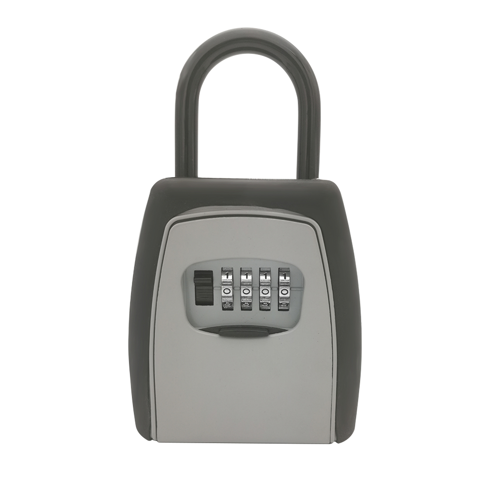 Image 2 - Keys Storage Box Key Storage Lock Box Safe Box Padlock Use Password Lock Alloy Material Keys Hook Security Organizer Boxes-in Safes from Security & Protection