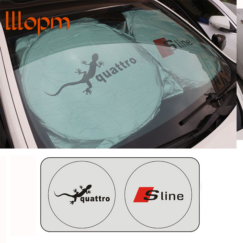 Car stlying Car Front Windshield Car Accessories Sunshade For Audi A6 C5 C6 A4 B6 B8 80 A1 A8 TT Q7 Q5 Q3 A3 A5 A7 S line B5 B7