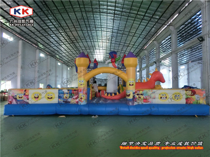 Outdoor kids bouncy castle inflatable fun city for park-in