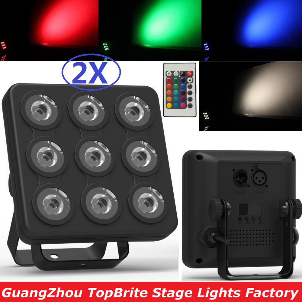 2017 Led Show Panel Flat LED Par Light 9x4W RGBW / RGB-UV Disco Lamp Stage Lights Luces Discoteca Laser Beam Projector Lumiere 10x dj disco par led 9x10w rgbw stage light dmx strobe flat luces discoteca party lights laser luz projector lumiere controller