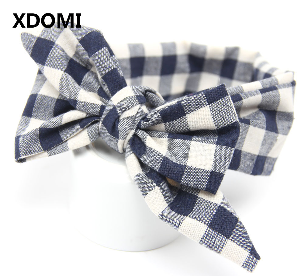 DIY lovely baby big bow plaid headwrap for kids bowknot hair accessories children cotton headband girls gifts diy lovely baby big bow plaid headwrap for kids bowknot hair accessories children cotton headband girls gifts