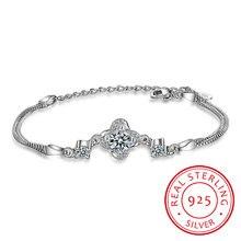 Женский браслет из серебра 925 пробы с австрийскими кристаллами