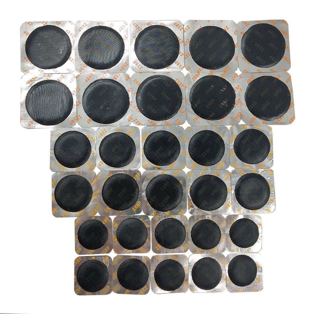 30Pcs/Set Universal Round Shape Tyre Repair Cold Patch Tire Repair Rubber Patch Tool For Car Motorcycle Multifunctional Patch