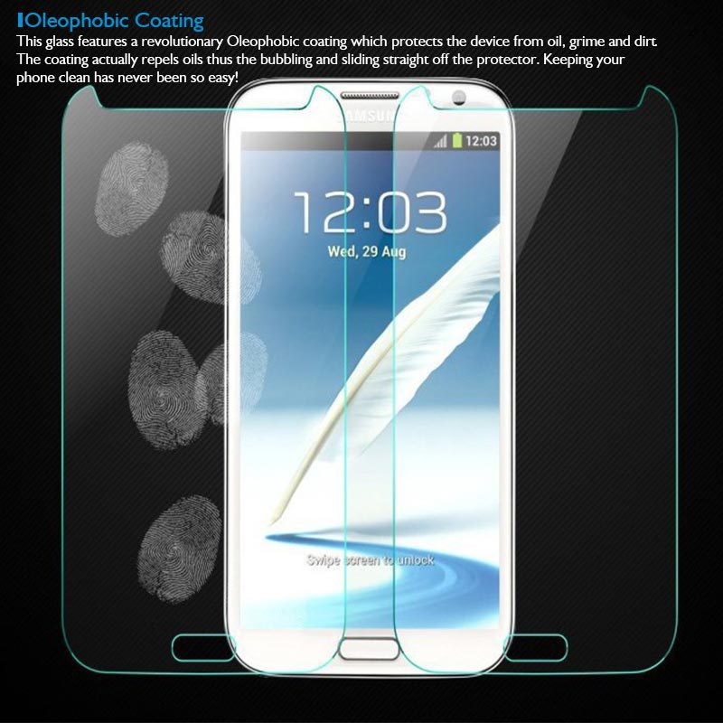 Premium 0 3mm Tempered Glass Film Explosion Proof Screen Protector for Samsung Galaxy Note 2 II N7100 N7105 Protective Film in Phone Screen Protectors from Cellphones Telecommunications