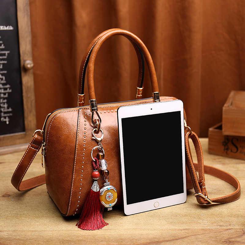 Коричневая лакированная Повседневная Сумка-тоут женская сумка из натуральной кожи сумка через плечо женская сумка с ручкой сверху женская сумка T55
