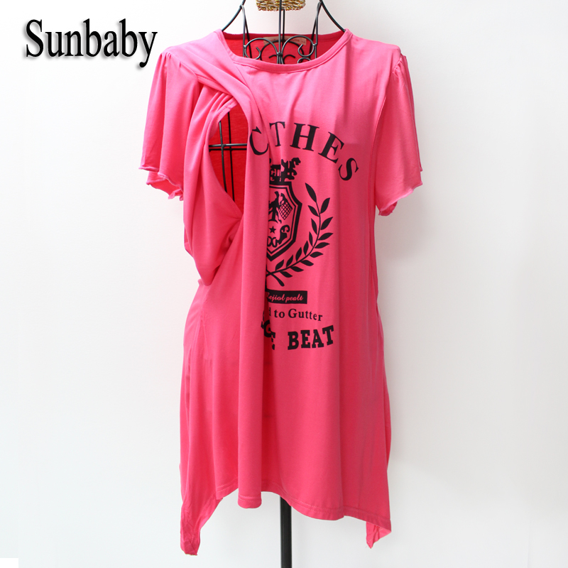 Summer Fashion Letter Printed Short Sleeve Causal Clothes for Pregnant Women Nice Fabric Clothes for nursing mothers