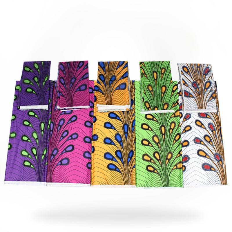 Tissu en satin bleu et blanc tissu en soie douce matériau africain Ankara imprime de haute qualité pour les femmes robe 5 + 2 yard/lot! ybg060429-in Tissu from Maison & Animalerie    1