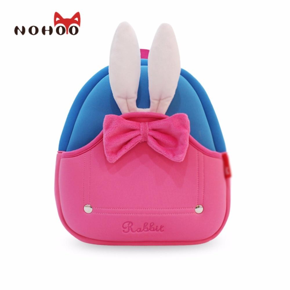 ФОТО NOHOO Waterproof School Bags For Girls Boys Cartoon Rabbit Fashion Printing Backpack Mochilas Infantis School Bag Kids Bag