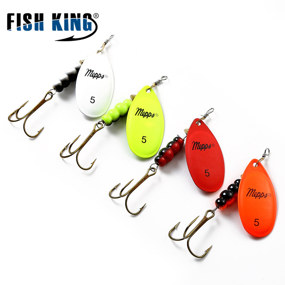 FISH KING Mepps 1PC 4 Color Size0-Size5 Fishing Hard Lure Bait Leurre Peche Spoon Fishing Tackle Vissen Pesca Acesorios рыболовный поплавок night fishing king 1012100014 mr 002