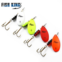 FISH KING Mepps 1PC 4 Color Size0-Size5 Fishing Hard Lure Bait Leurre Peche Spoon Fishing Tackle Vissen Pesca Acesorios