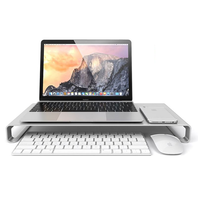 все цены на  Free shipping Aluminum notebook stand For Apple MacBook desktop monitor base For iMac increased  онлайн