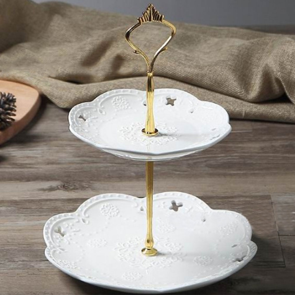 2 уровня аппаратного 3 уровня Металлическая корона торт пластина стенд вечерние золото