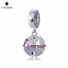 ¡Vídeo! Cuentas de plata de ley 925 con campanas de Navidad, charms para pulsera, collar Original, joyería auténtica, DDBJ110