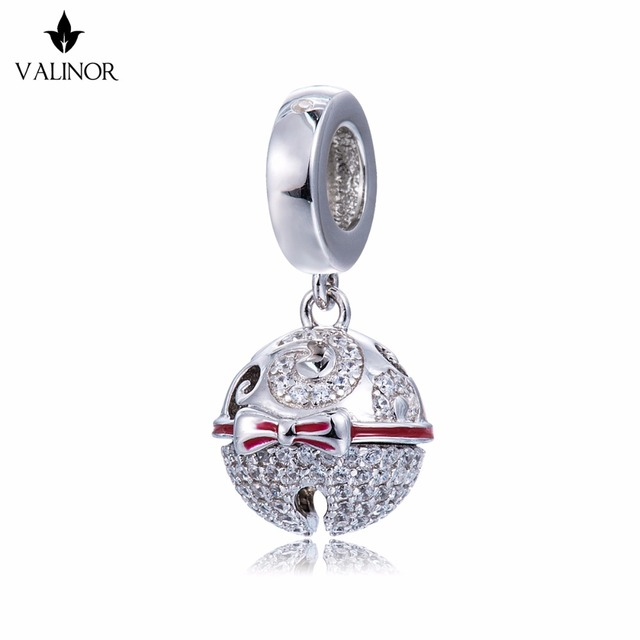 Video! Christmas Bells Genuine 925 Sterling Silver Charm Beads Fit Original Bracelet Necklace Authentic Jewelry DDBJ110
